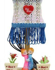BlankLeaf Wooden Couple Lamp