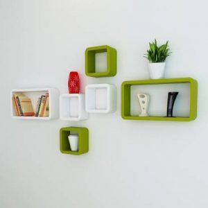 cherry wood MDF Wall Decoration Shelf Set