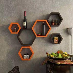 Onlineshoppee Hexagonal MDF
