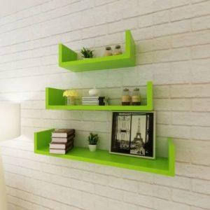 Artesia U Rack Wooden Wall Shelf